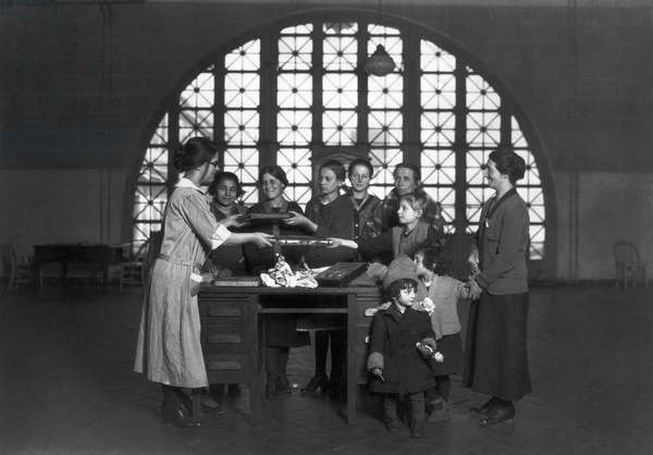 ELLIS ISLAND, 1926 Photograph by Lewis Hine, 1926.