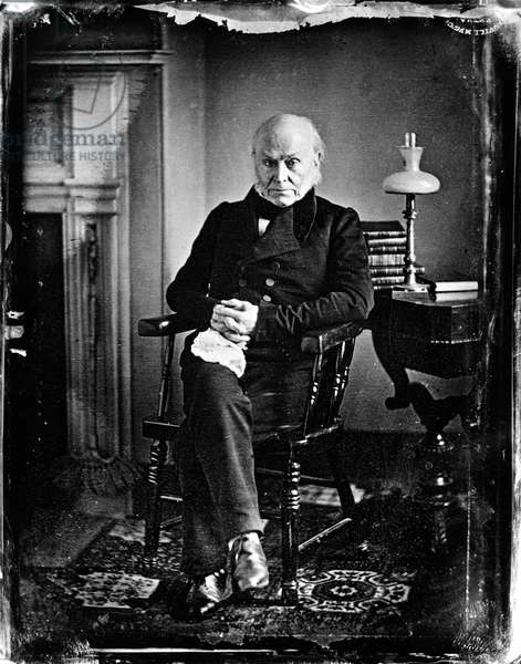 JOHN QUINCY ADAMS (1767-1848). 6th President of the United States. Daguerreotype by Southworth and Hawes, c.1847.