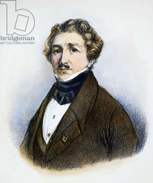 LOUIS DAGUERRE (1789-1851) Louis Jacques Mandé Daguerre. French painter and inventor of the daguerreotype. French lithograph, mid-19th century.
