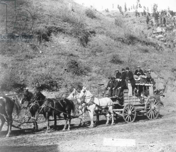 THE DEADWOOD STAGECOACH South Dakota, 1890.