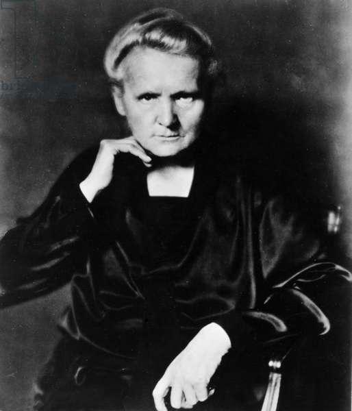 MARIE CURIE (1867-1934) Marie Sklodowska Curie. French (Polish-born) chemist. Photograph, c.1920.