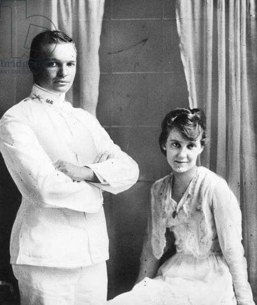 DWIGHT D. EISENHOWER (1890-1969). 34th President of the United States. Eisenhower with his wife-to-be, Mamie Doud, when he was commissioned and stationed in San Antonio, Texas, 1915.