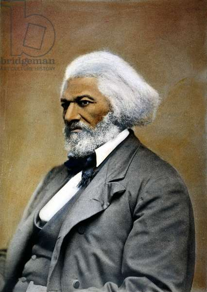 FREDERICK DOUGLASS ( c.1817-1895). American abolitionist and writer. Oil over a photograph, c.1885.