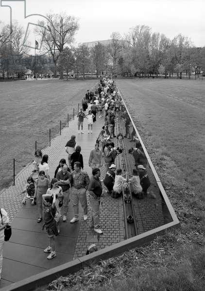 VIETNAM VETERANS MEMORIAL The Vietnam Veterans Memorial in West Potomac Park, Washington, D.C. Photograph, 1996.