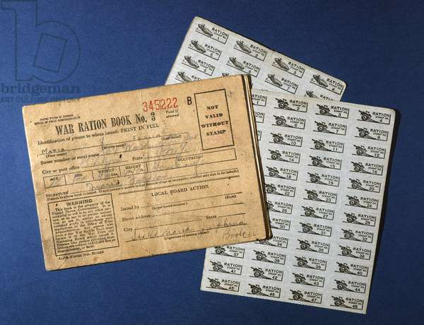 WWII: RATION BOOK United States war ration book issued in Brooklyn, New York, during World War II.