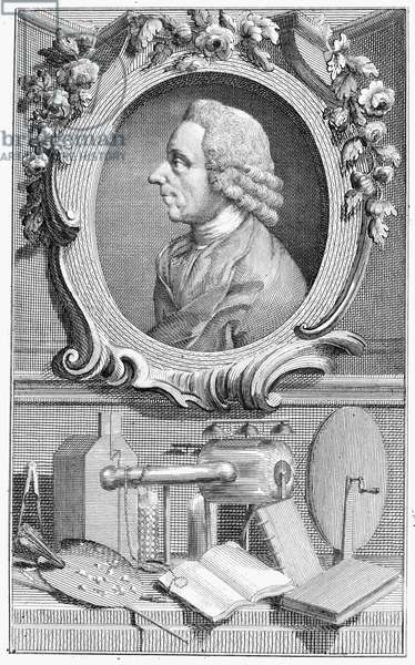 JOSEPH PRIESTLEY (1733-1804) English cleric and chemist. Line engraving, English, late 18th century.