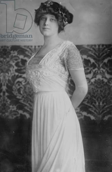 MADELEINE FORCE ASTOR (1893-1940). Second wife and widow of John Jacob Astor IV and survivor of the RMS 'Titanic.' Photograph, c.1912.