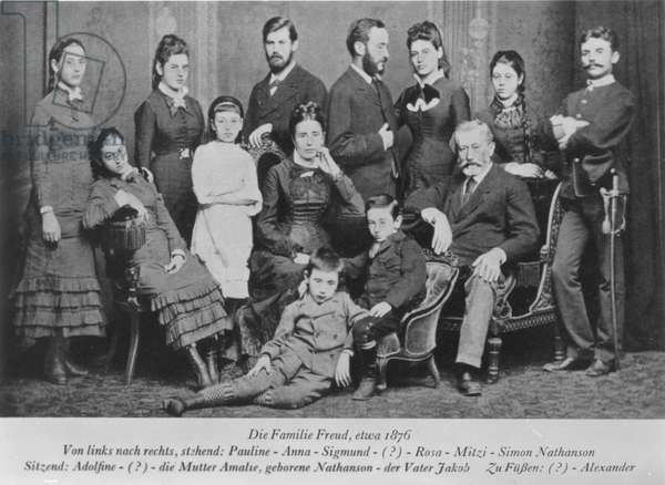 SIGMUND FREUD (1856-1939) Freud (third from left, standing) with his family in 1876.