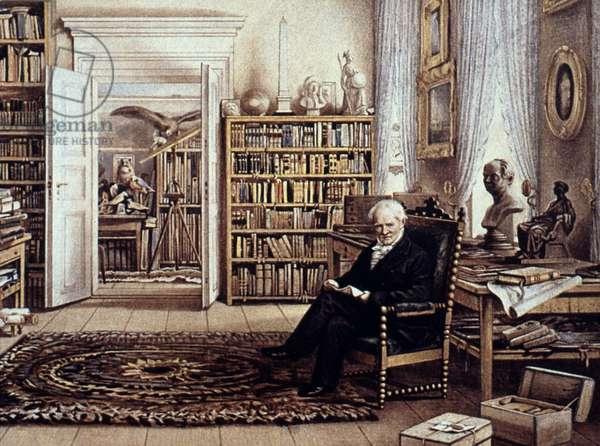 ALEXANDER von HUMBOLDT (1769-1859). German naturalist, traveler, and statesman. Lithograph, 1856.