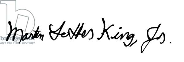 MARTIN LUTHER KING, JR (1929-1968). American clergyman and reformer. Autograph signature.