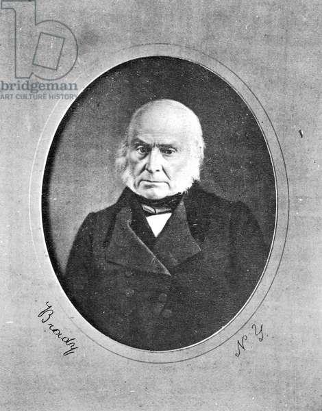 JOHN QUINCY ADAMS (1767-1848). Sixth President of the United States. Daguerreotype, c.1845, by Mathew Brady.