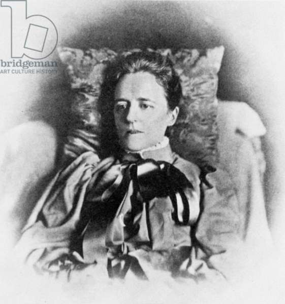 ALICE JAMES (1850-1892) Sister of William and Henry James. Photographed in 1891.