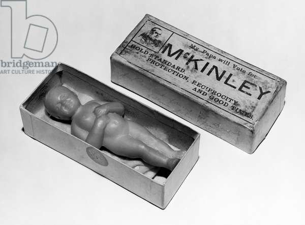 PRESIDENTIAL CAMPAIGN, 1896 McKinley soap doll from the 1896 presidential campaign, when William McKinley was the candidate of the Republican party.
