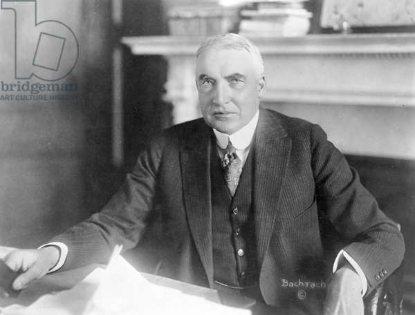 WARREN G. HARDING, c.1921 29th President of the United States. Photographed, c.1921.