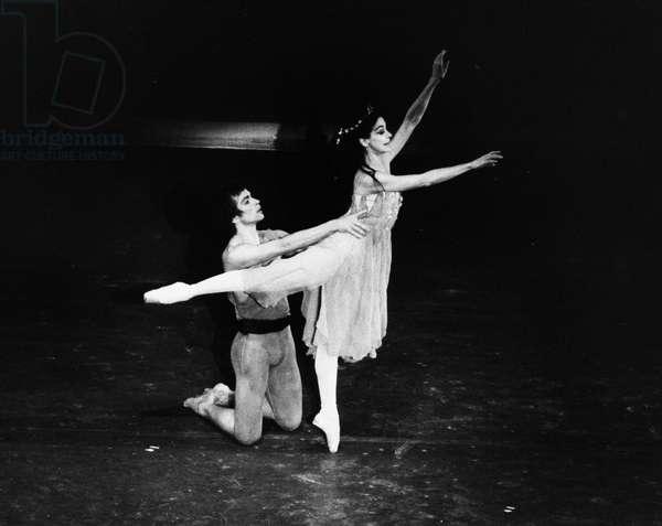 RUDOLF NUREYEV (1938-1993) Russian ballet dancer. With Dame Margot Fonteyn in 1975.