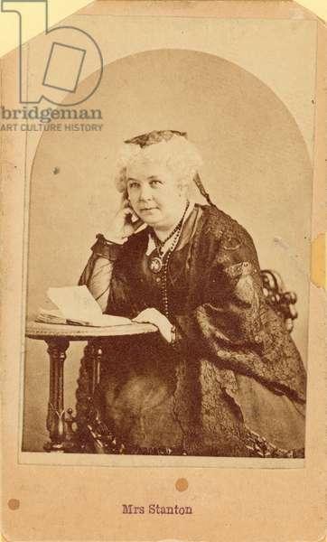 ELIZABETH CADY STANTON (1815-1902). American women's suffrage advocate. Original carte-de-visite photograph, c.1875