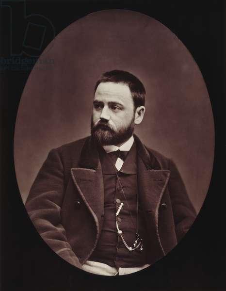 EMILE ZOLA (1840-1902) French novelist. Photographed c.1876.