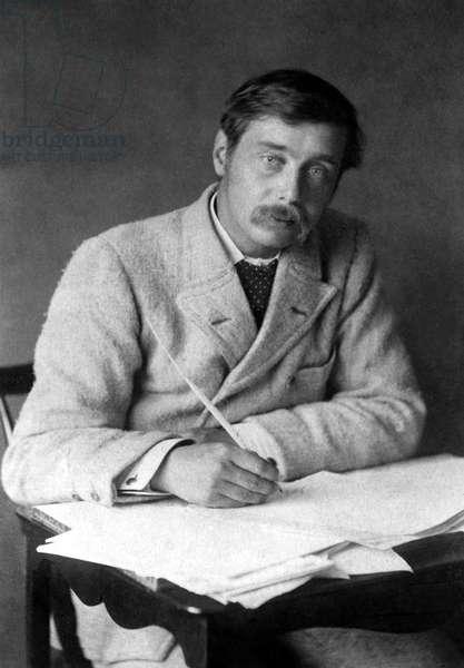 HERBERT GEORGE WELLS (1866-1946). English writer. Photographed in 1896.