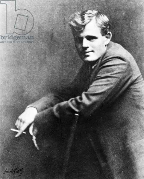 JACK LONDON (1876-1916) American writer. Photographed by Arnold Genthe.