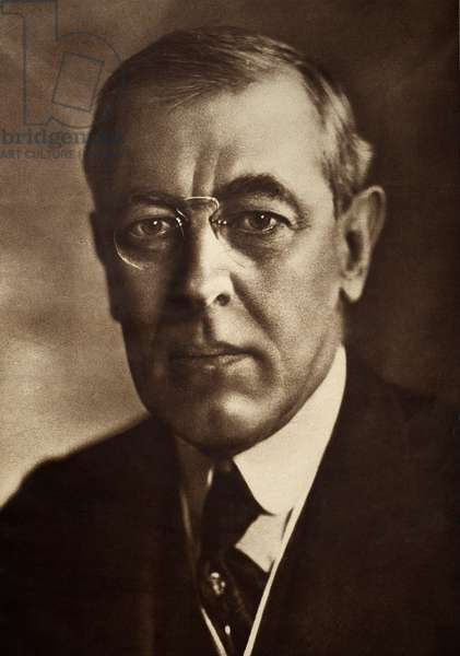 WOODROW WILSON (1856-1924) 28th President of the United States. Photograph, c.1915.