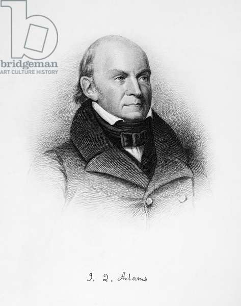 JOHN QUINCY ADAMS (1767-1848). Sixth President of the United States. Etching, 1868.