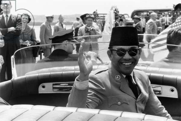 SUKARNO (1901-1970) Indonesian nationalist leader and politician. Photographed by Warren K. Leffler during a visit to Washington, D.C., as President of Indonesia, 16 May 1956.