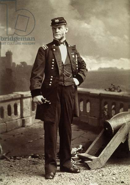 WILLIAM TECUMSEH SHERMAN (1820-1891). American army commander. Original cabinet photograph, c.1870, by Mora, New York.