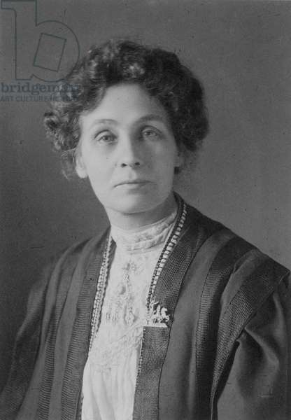 EMMELINE PANKHURST (1858-1928). English women's suffrage advocate.