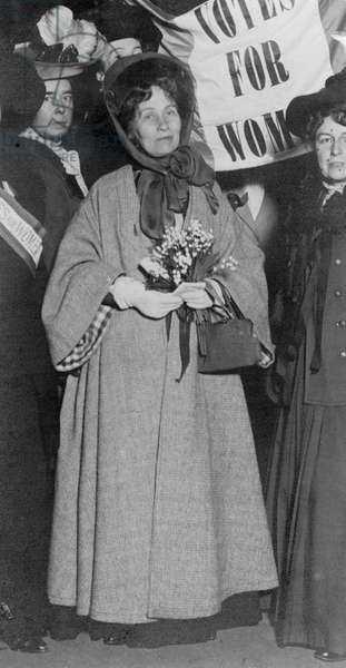 EMMELINE PANKHURST (1858-1928). English woman-suffrage advocate.