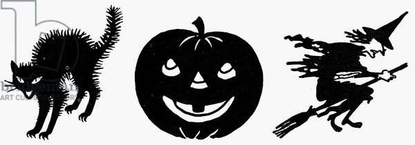 SYMBOLS: HALLOWEEN Various symbols of Halloween.