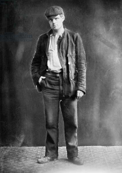 JACK LONDON (1876-1916) American writer. Undated photograph.