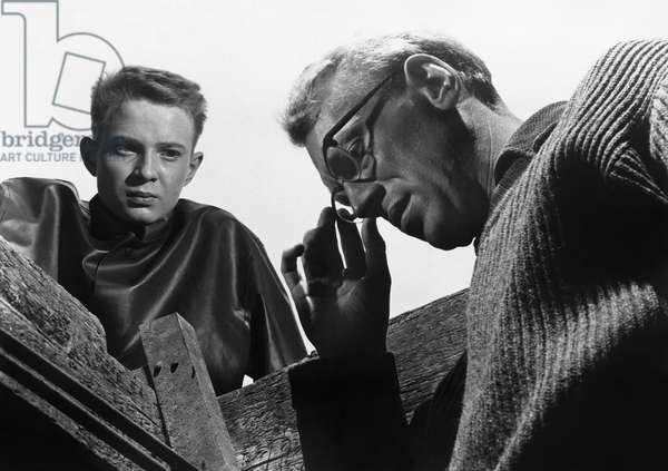 THROUGH A GLASS DARKLY Lars Passgård and Max Von Sydow in a scene from 'Through a Glass Darkly,' directed by Ingmar Bergman, 1961.