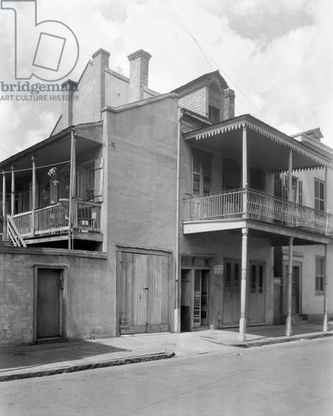 NEW ORLEANS: HOUSE A view of the house at 910 Orleans Street in New Orleans, Louisiana. Photographed by Frances Benjamin Johnston, c.1938.