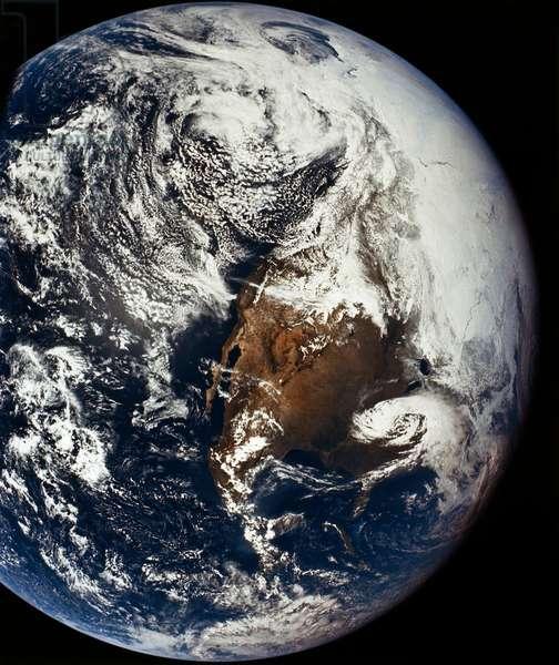 APOLLO 16: EARTH, 1972 A view of Earth from the Apollo 16 spacecraft. Photograph, 1972.