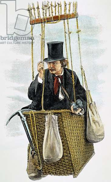 FELIX TOURNACHON, 1897 Pseudonym, Nadar. French writer, caricaturist and photographer: detail from advertising endorsement, 1897, for the French tonic, Vin Mariani.