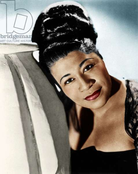 ELLA FITZGERALD (1917-1996) American singer. Photograph by Maurice Seymour, c.1945.