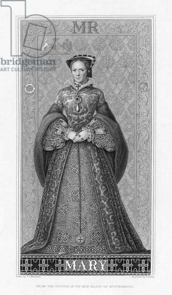 MARY, QUEEN OF SCOTS (1542-1587). Mary Stuart, Queen of Scotland, 1542-1567. Line engraving after a painting, English, 1884.