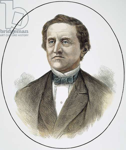 SAMUEL J. TILDEN (1814-1886) Samuel Jones Tilden. American political leader. Wood engraving, 1877.