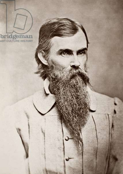 WILLIAM MAHONE (1826-1895) American Confederate soldier and politician. Photographed when in Confederate service during the American Civil War.