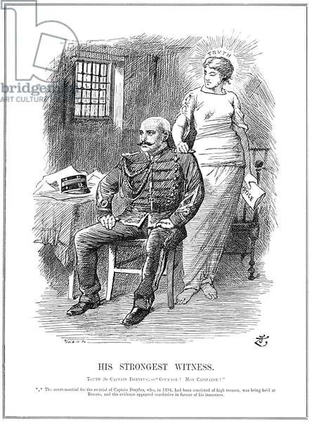 ALFRED DREYFUS (1859-1935) French army officer. Cartoon, 1899, by Sir John Tenniel.
