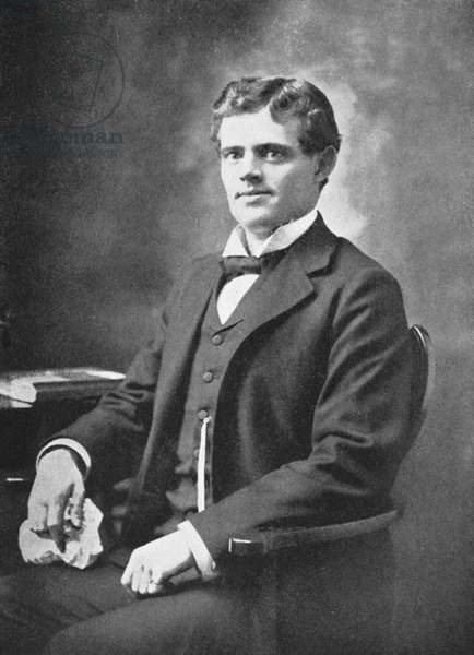 JACK LONDON (1876-1916) American writer. Photographed c.1900.
