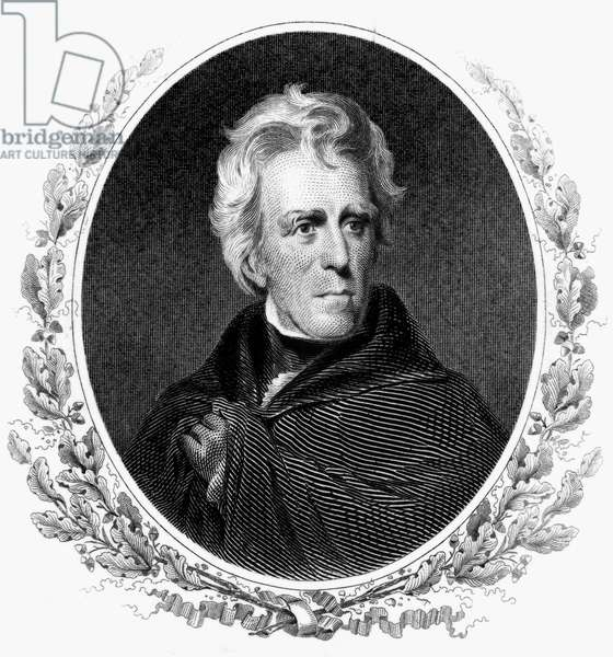 ANDREW JACKSON (1767-1845) Seventh President of the United States. Engraving after Thomas Sully, 19th century.