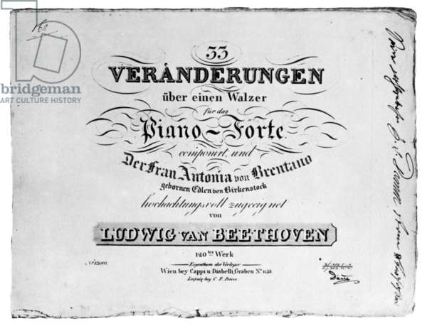 DIABELLI' VARIATIONS Original edition of Beethoven's