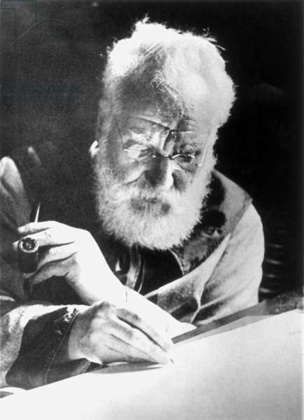 ALEXANDER GRAHAM BELL (1847-1922). American (Scottish born) teacher and inventor. Photograph by I.D. Boyce, 1913.