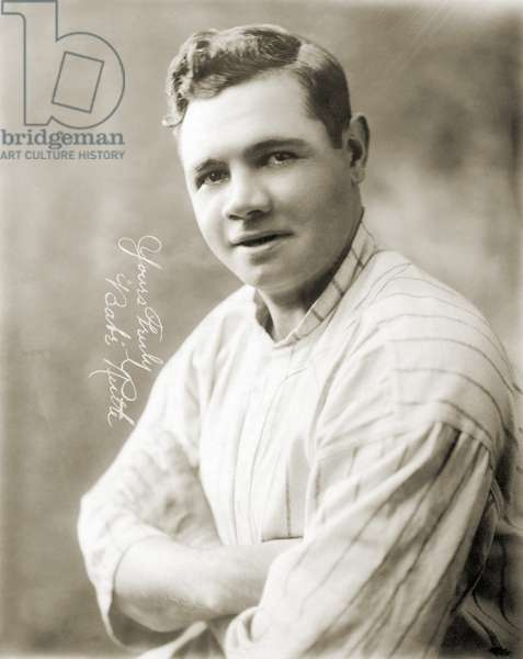 GEORGE H. RUTH (1895-1948) Known as Babe Ruth, American professional baseball player. Photographed in 1920.