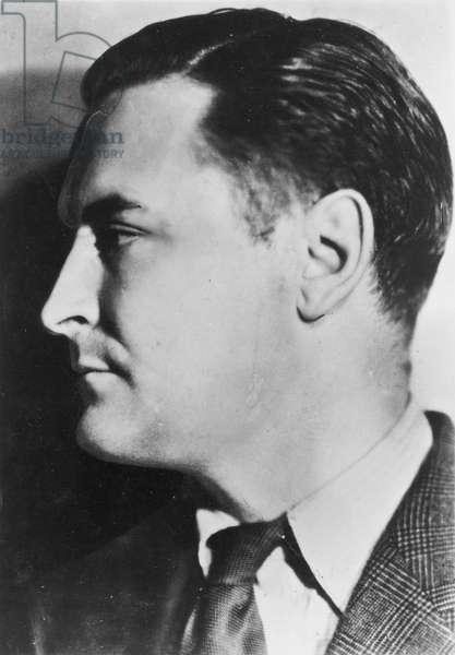 F. SCOTT FITZGERALD (1896-1940). Francis Scott Key Fitzgerald. American writer.
