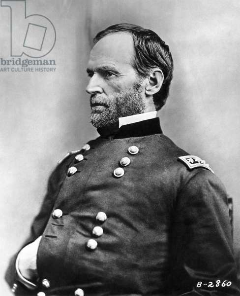 WILLIAM TECUMSEH SHERMAN (1820-1891). American army commander. Photographed by Mathew Brady during the Civil War.