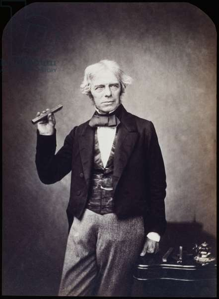 MICHAEL FARADAY (1791-1867) English chemist and physicist. Photographed c.1858.