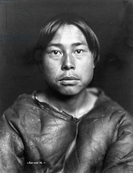 ALASKA: ESKIMO YOUTH An Eskimo youth, Nome, Alaska. Photographed by the Lomen Brothers, early 20th century.