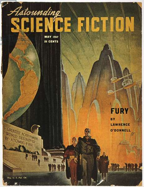 SCIENCE FICTION MAGAZINE Cover by Hubert Rogers for the May 1947 issue of 'Astounding Science Fiction' magazine.